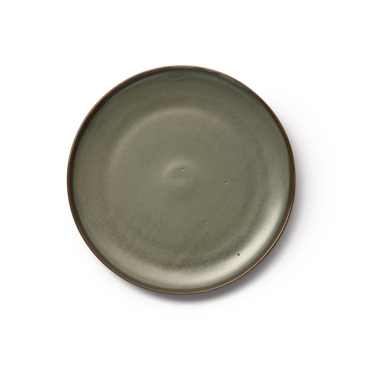 Десертные La Redoute Тарелки из глазурованной керамики Akira единый размер зеленый чашки la redoute из керамики shima единый размер зеленый