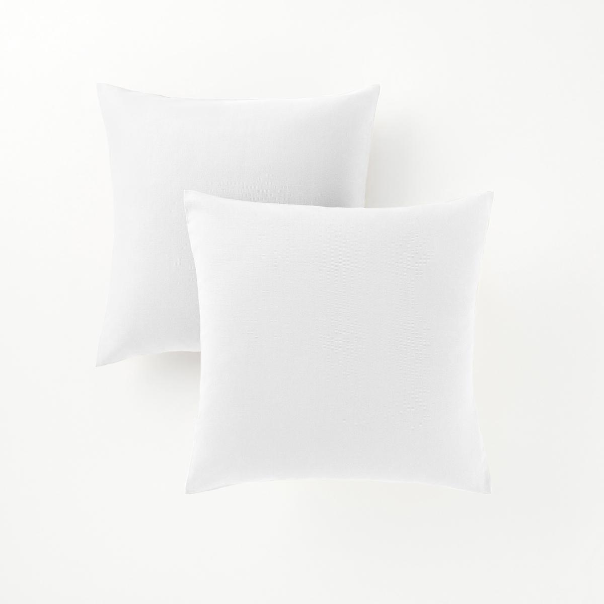 2 квадратных или прямоугольных чехла на подушки2 квадратных или прямоугольных чехла на подушки : декоративная расцветка, можно сочетать по желанию !       Характеристики 2 или прямоугольных чехлов на подушки :- Чехлы на подушки из красивой и очень прочной ткани (220 г/м?), застежка на молнии.- Гарантия расцветки : превосходная стойкость от воздействия солнечных лучей и стирок (40 °С).В комплекте 2 чехла одного цвета.                             Качество VALEUR S?RE.Подушки продаются отдельно.                                            Сертификат Oeko-Tex® дает гарантию того, что товары изготовлены без применения химических средств и не представляют опасности для здоровья человека.<br><br>Цвет: белый,бледно-зеленый,вишневый,медовый,серый жемчужный