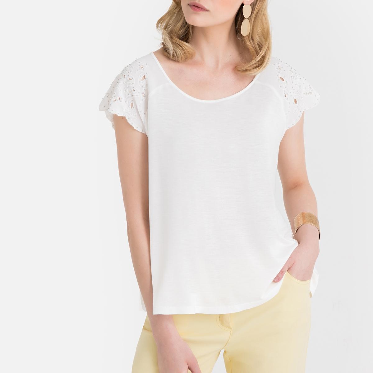 T-shirt fantasia, gola redonda