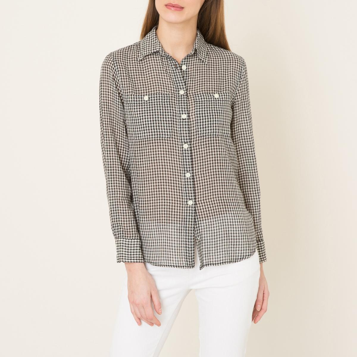 Рубашка в клеткуСостав и описание    Материал : 100% хлопок    Марка : Denim and Supply Ralph Lauren<br><br>Цвет: синий/ белый
