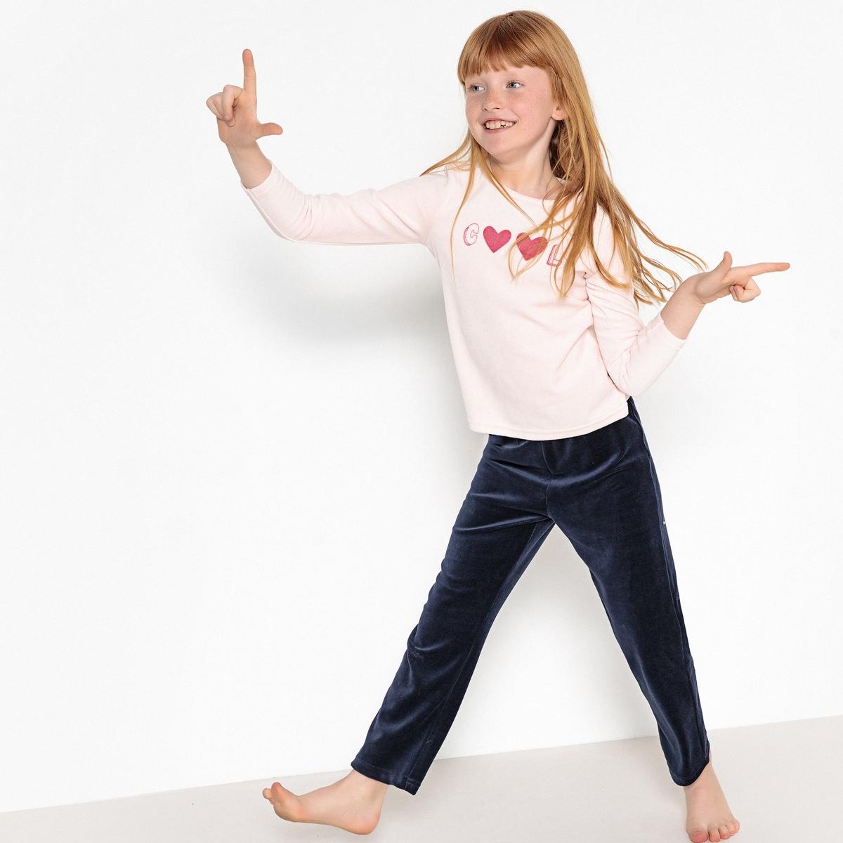 Пижама La Redoute Из предметов с рисунком 12 лет -150 см розовый пижама la redoute из велюра с рисунком панда 12 лет 150 см бежевый