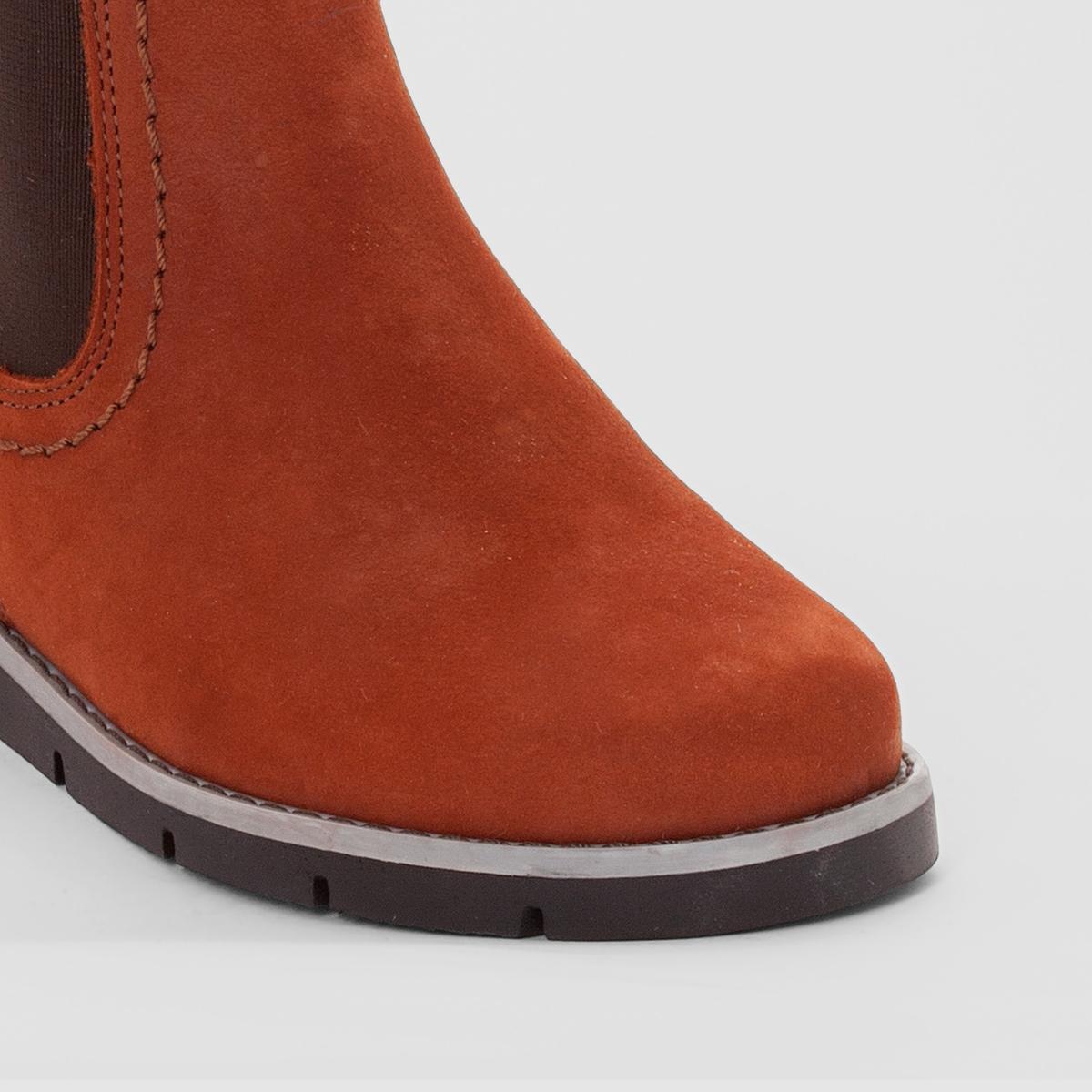Ботильоны кожаные с цветными эластичными вставкамиКожаный верх, рифленая подошва, прекрасная модель в стиле челси с цветными эластичными вставками : ботильоны кожаные, пользующиеся спросом благодаря своему комфорту и стилю !<br><br>Цвет: темно-бежевый + красный<br>Размер: 28