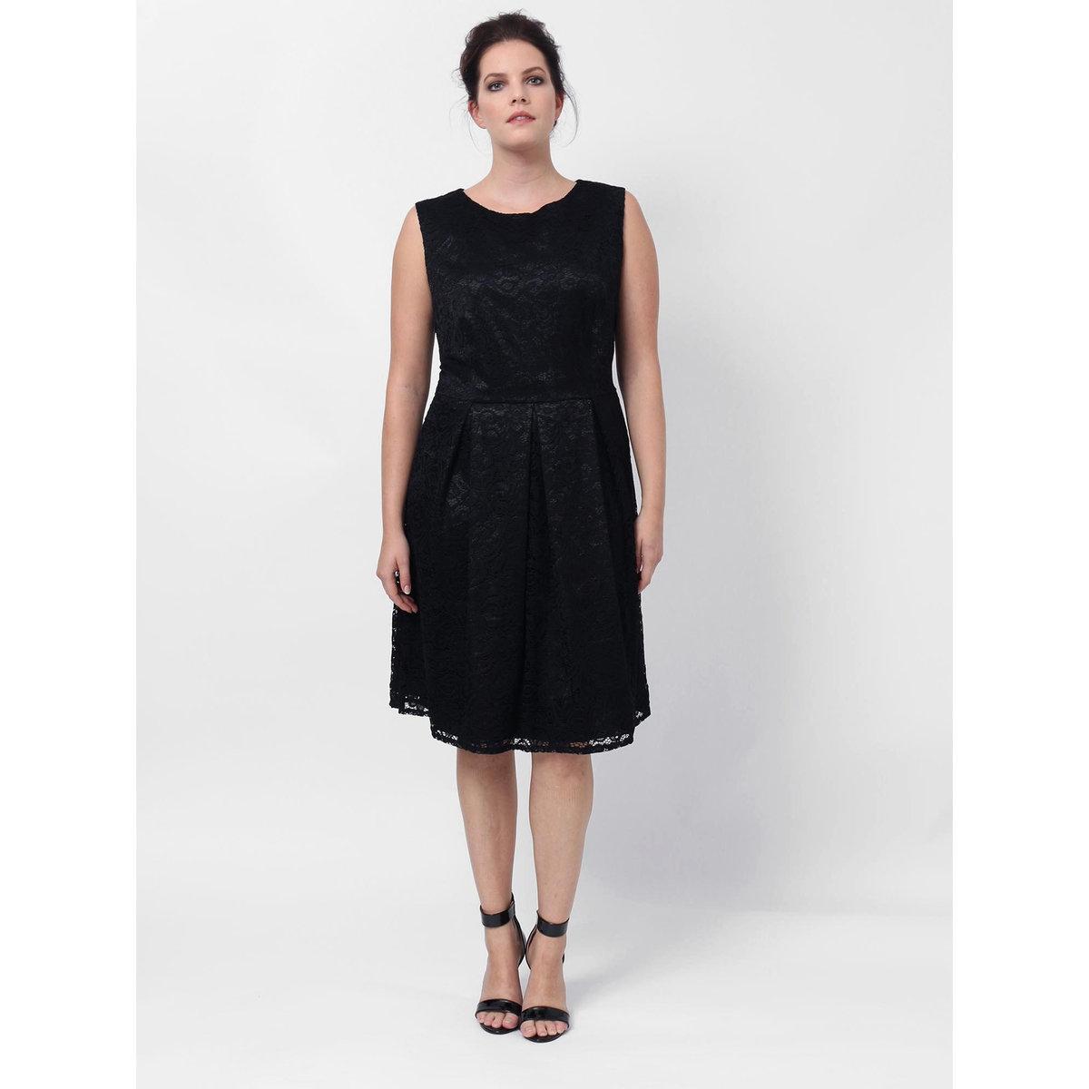 Платье длинноеПлатье без рукавов LOVEDROBE. Застежка на молнию сзади . Длина ок. 100 см.. 100% полиэстера<br><br>Цвет: черный