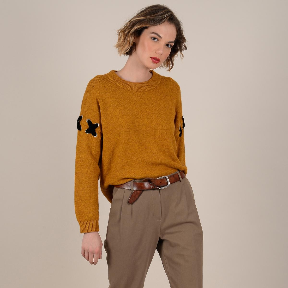 Пуловер La Redoute С круглым вырезом из плотного трикотажа M желтый пуловер la redoute с круглым вырезом из плотного трикотажа 3xl бежевый