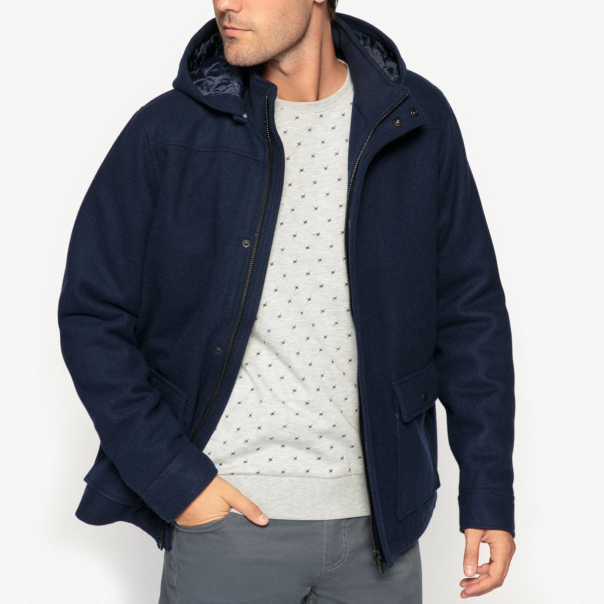 Пальто средней длины из смесового шерстяного материала