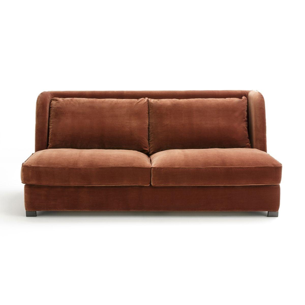 canap 3 ou 4 pl fixe jaseran velours. Black Bedroom Furniture Sets. Home Design Ideas