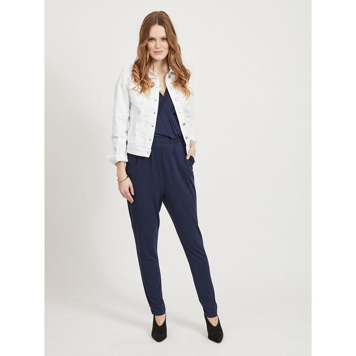 Фото - Куртка LaRedoute Прямого покроя из джинсовой ткани S белый юбка laredoute джинсовая прямого покроя xs синий