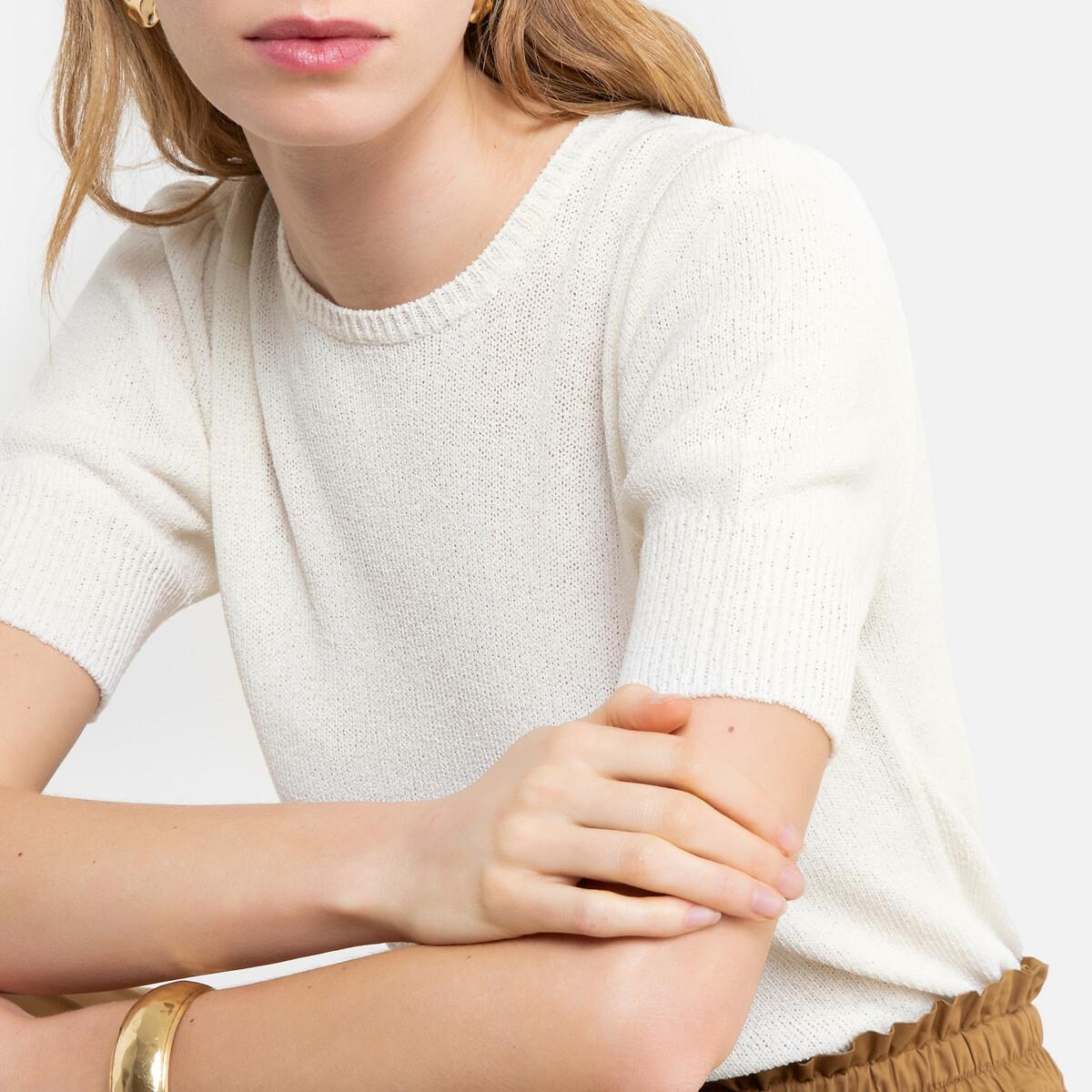 Jersey con cuello redondo y manga corta