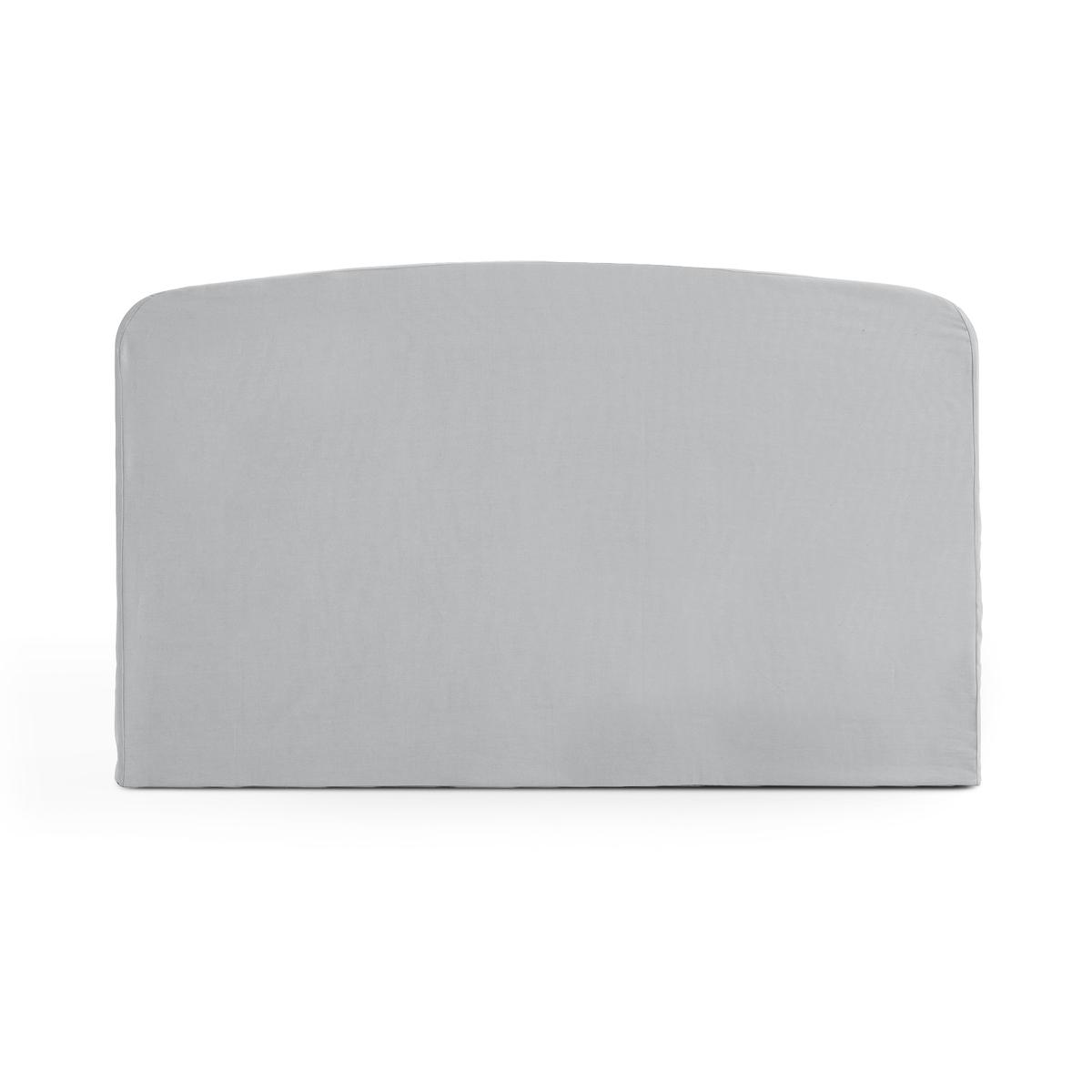Чехол LaRedoute Для изголовья кровати округлой формы из хлопка SCENARIO 90 x 85 см серый чехол laredoute для изголовья кровати stadia 100 лен высота 120 см 120 x 10 x 160 см серый
