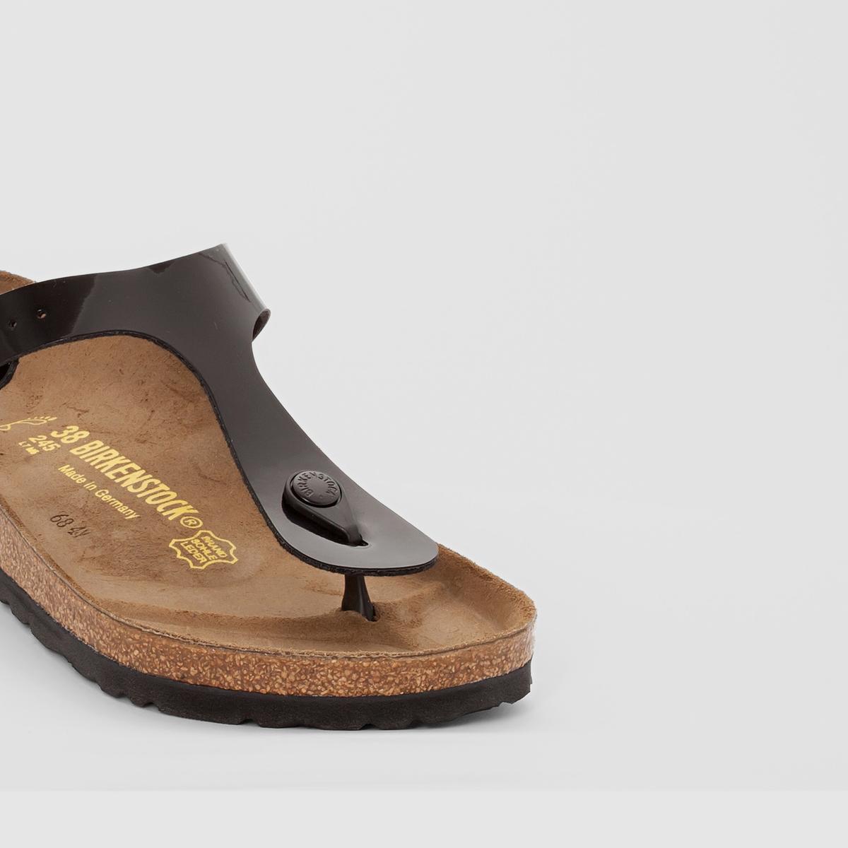 Туфли без задника синтетическиеДетали  •  Вьетнамки •  Застежка : без застежки •  Открытый мысокСостав и уход  •  Верх 100% синтетический материал •  Подкладка 100% текстиль •  Стелька 100% кожа •  Подошва 100% ЭВА<br><br>Цвет: Черный лак