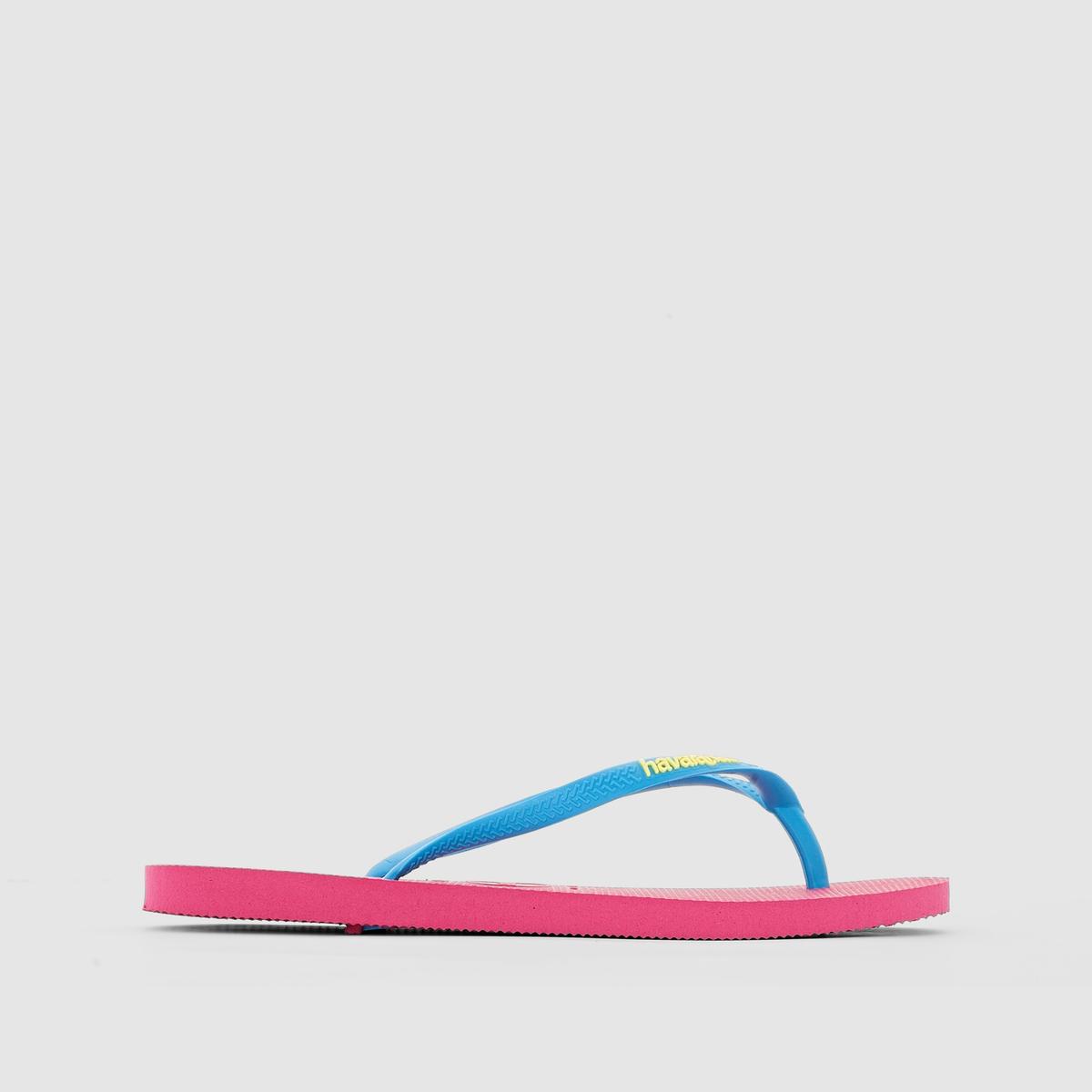 Вьетнамки, HAVAINAS Hav. Slim LogoПреимущества : Рельефный логотип на ремешке, оригинальность при простоте линий - эти вьетнамки от HAVAINAS легко найдут свое место во время пляжного отдыха или прогулок<br><br>Цвет: розовый<br>Размер: 37/38