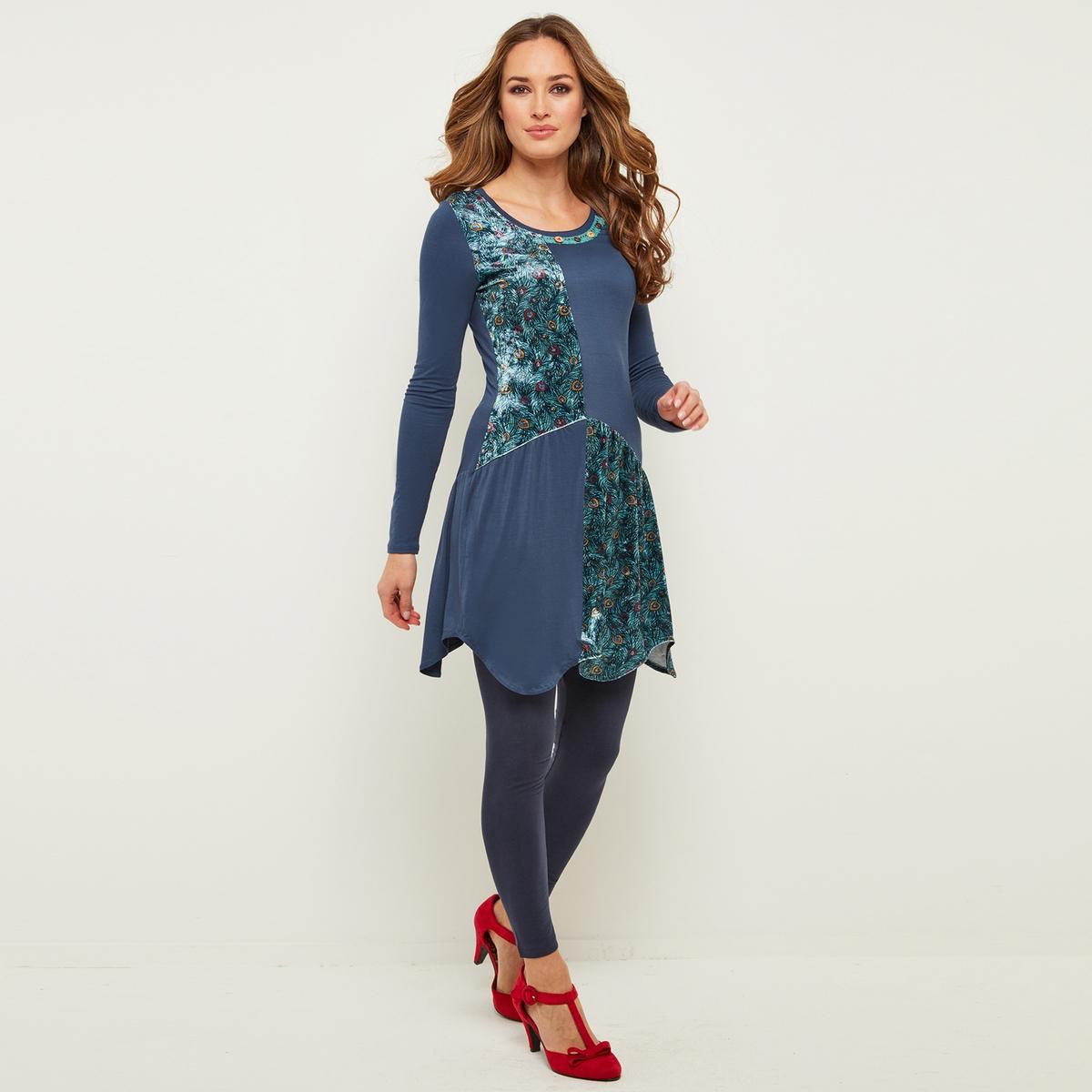 Платье расклешенное с длинными рукавами и круглым вырезом платье расклешенное с длинными рукавами и круглым вырезом