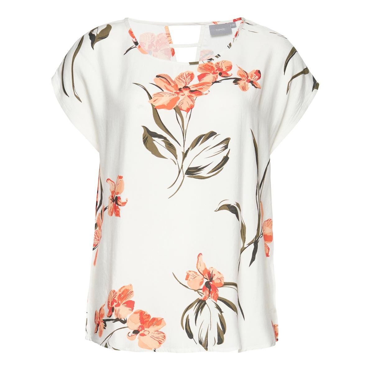 Блузка с короткими рукавами и рисунком