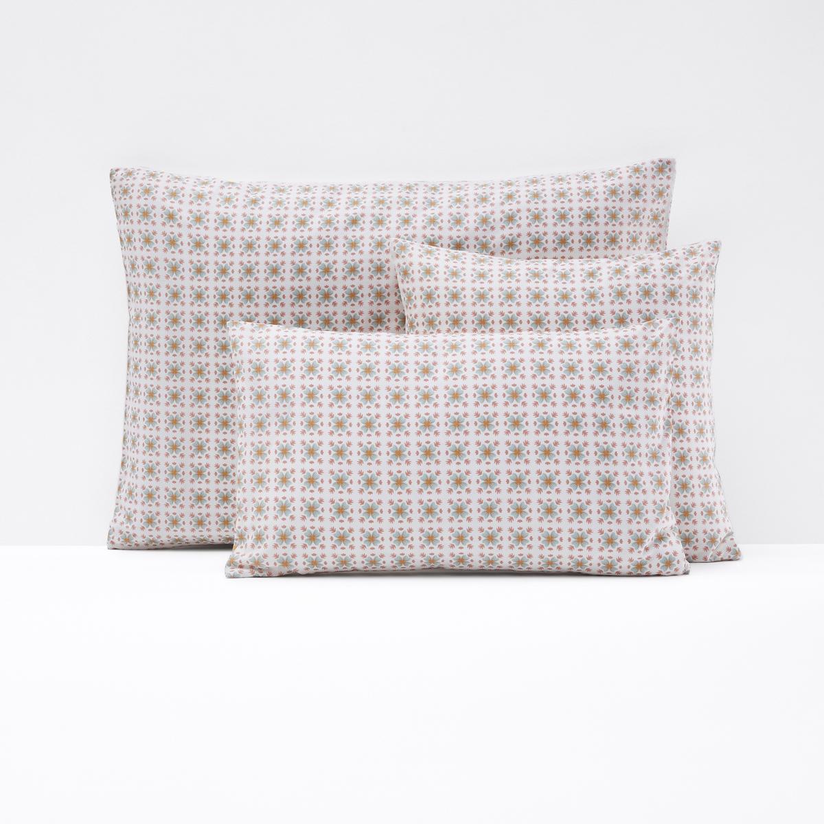Чехол La Redoute На подушку или наволочка из перкали AMELIA 40 x 40 см бежевый цены