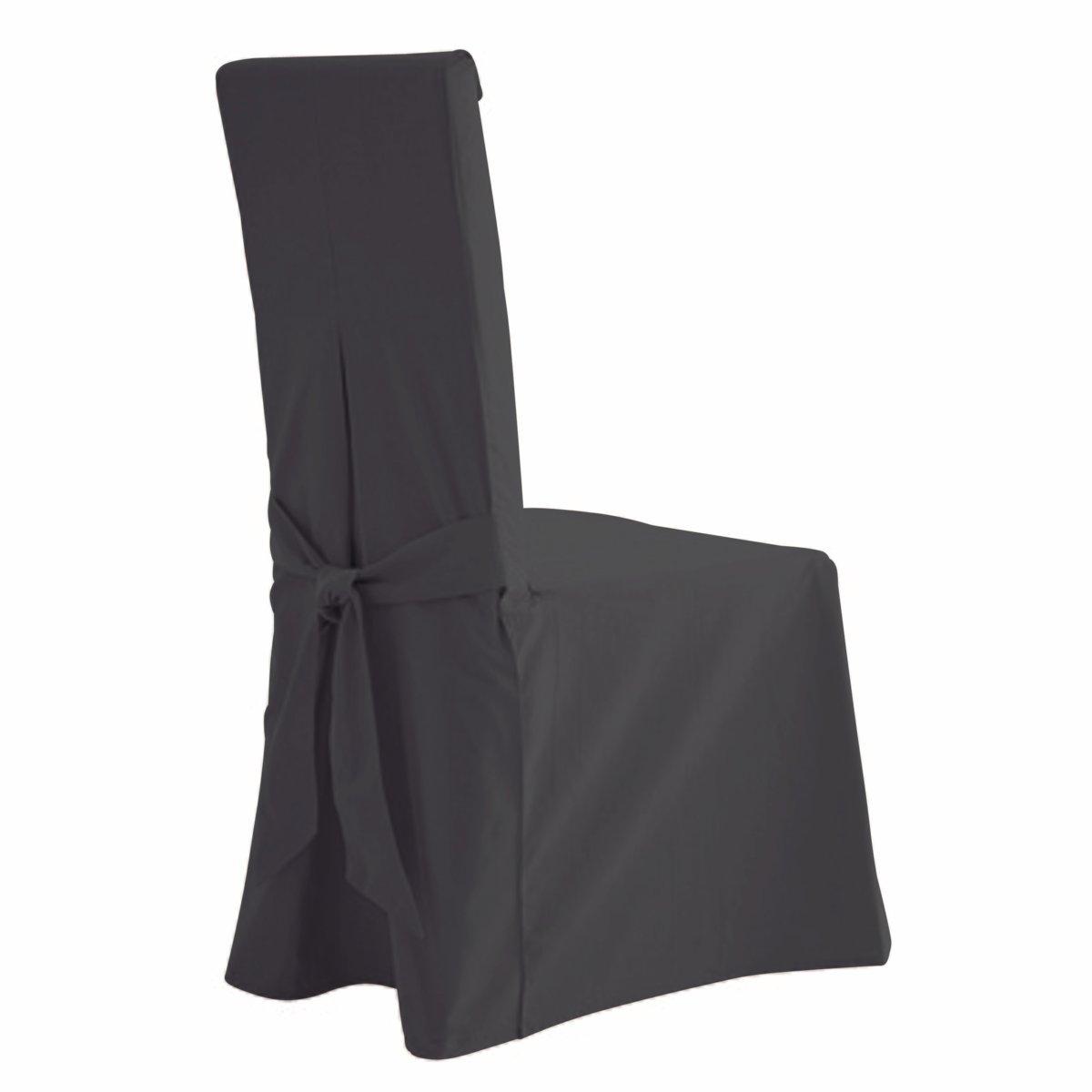 2 чехла для стулаХарактеристика чехла для стула:- Красивая плотная ткань из 100% хлопка (220 г/м?), прочная и тяжелая. Стильная цветовая гамма.- Изысканная отделка: 2 встречные складки спереди, встречная складка и бант сзади. Качественная окраска: превосходная стойкость цвета перед воздействием солнечных лучей и стирки (40°).Размеры чехла для стула:- Спинка: общая высота 55 см, толщина 5 см, ширина 37 см.- Сидение: ширина от 37 до 45 см x глубина 40 см.- Юбка: высота 45 см.В комплекте 2 чехла одного цвета.Качество VALEUR SURE. Производство осуществляется с учетом стандартов по защите окружающей среды и здоровья человека, что подтверждено сертификатом Oeko-tex®.<br><br>Цвет: антрацит,облачно-серый,серо-коричневый каштан,сине-зеленый