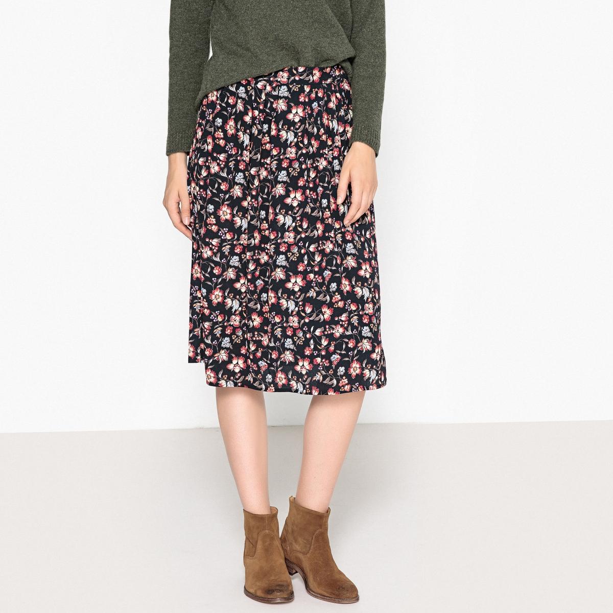 Юбка расклешённая укороченная EDITE юбка расклешённая с рисунком crysalide