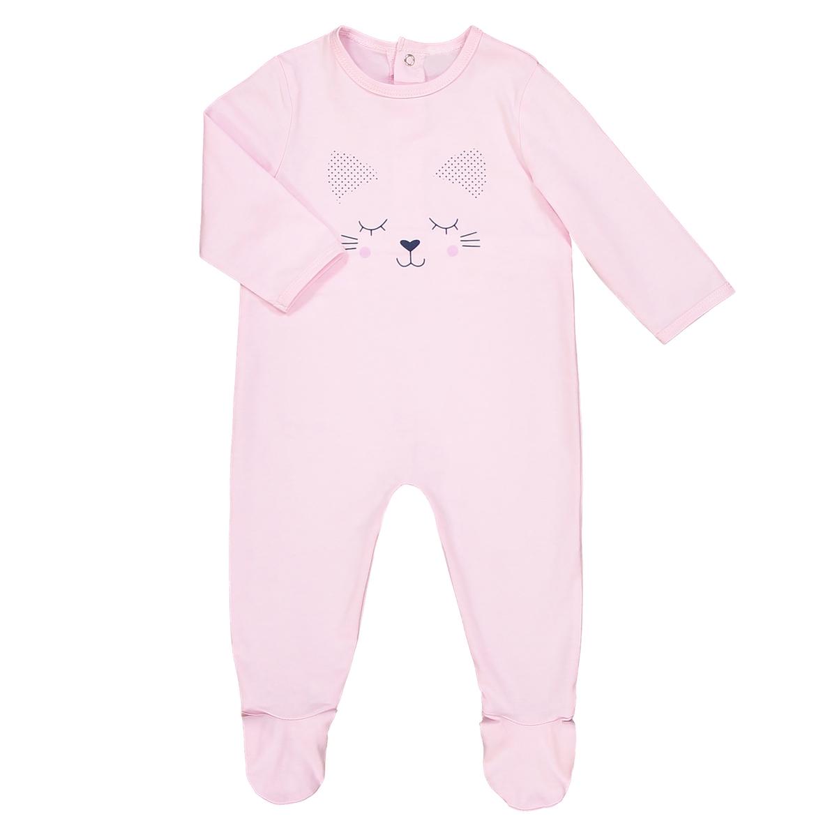 Пижама из хлопка с принтом кошка, 0 месяцев - 3 года пижама из хлопка джерси