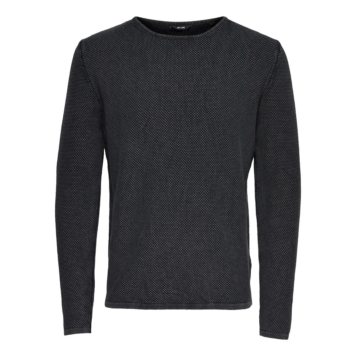 Пуловер с круглым вырезом из тонкого трикотажа Only & Sons