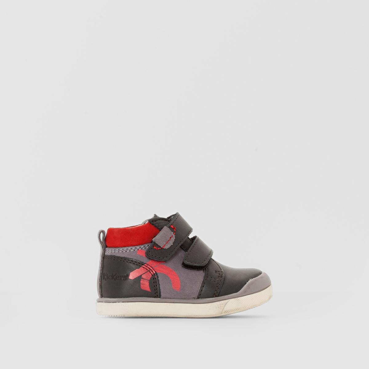 Кеды высокие с застежкой на планку-велкро GOWAOUПодкладка : Неотделанная кожа         Стелька : Неотделанная кожа          Подошва : Каучук   Высота каблука : 5 см.         Форма каблука : Плоский каблук         Мысок : Закругленный         Застежка : Планки-велкро<br><br>Цвет: черный/ серый/ красный