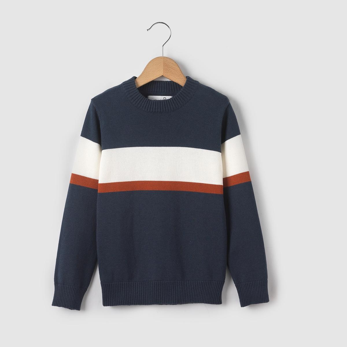 Пуловер с круглым вырезом, 3-12 лет