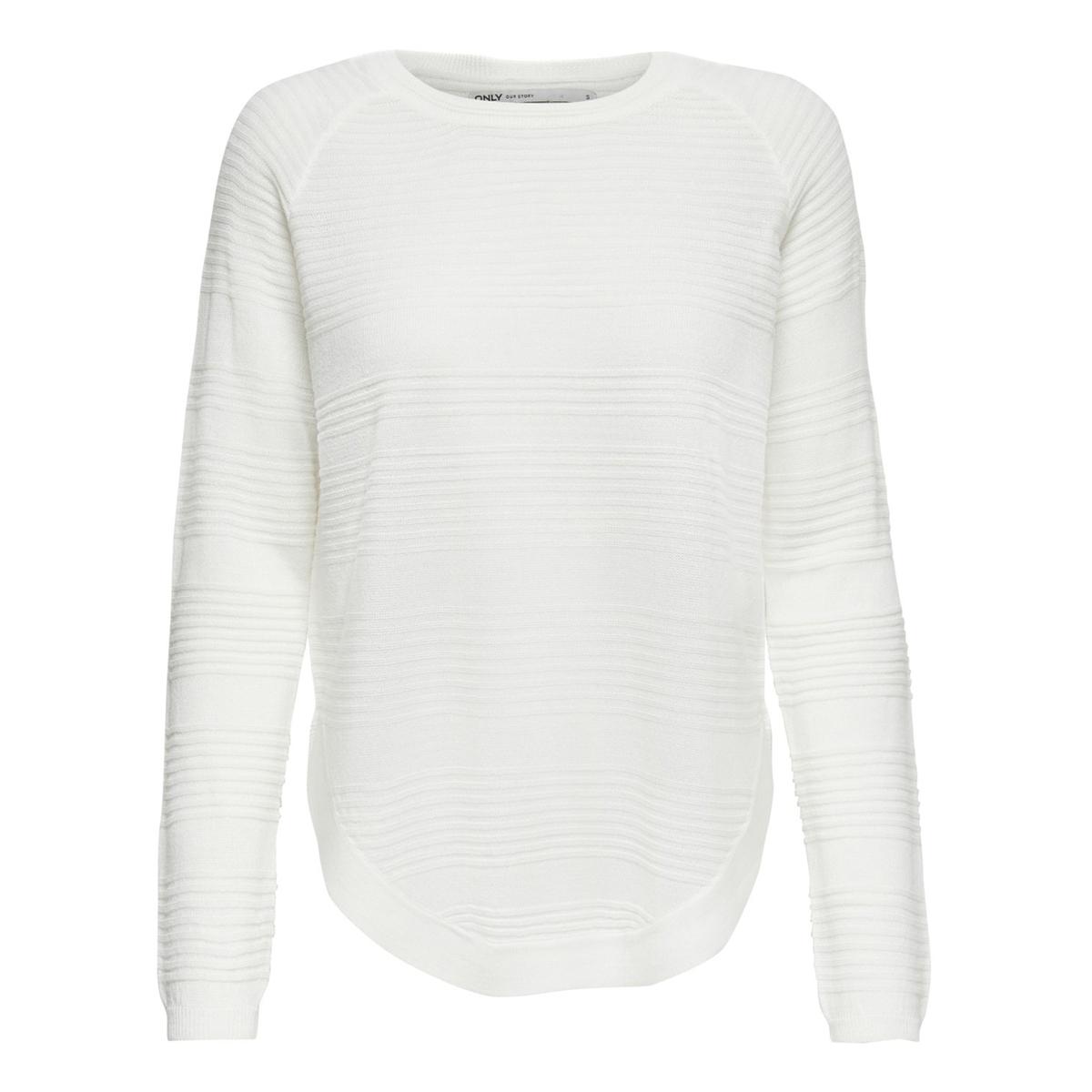 Пуловер La Redoute Из тонкого трикотажа присборенный снизу S белый