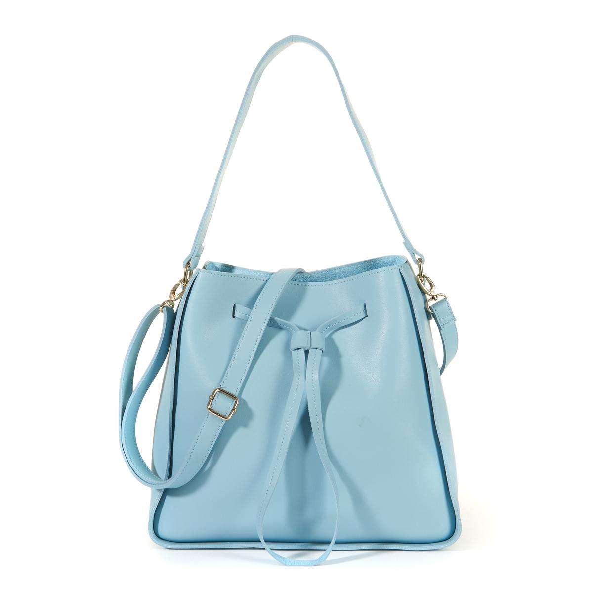 Сумка-торба пастельного цветаОписание:Изящная и женственная сумка красивой формы и очень модной расцветки : замечательная сумка, которую стоит приобрести немедленно!Состав и описание : •  Внешний материал : 100% полиуретан  •  Подкладка : 100% полиэстер •  Размер :  Ш36 x В28 х Г11 см •  Застежка : завязки •  Внутренний карман : 1 карман на молнии  •  Ремешок :  съемный регулируемый    •  Носить : через плечо или в руках<br><br>Цвет: розовый,синий