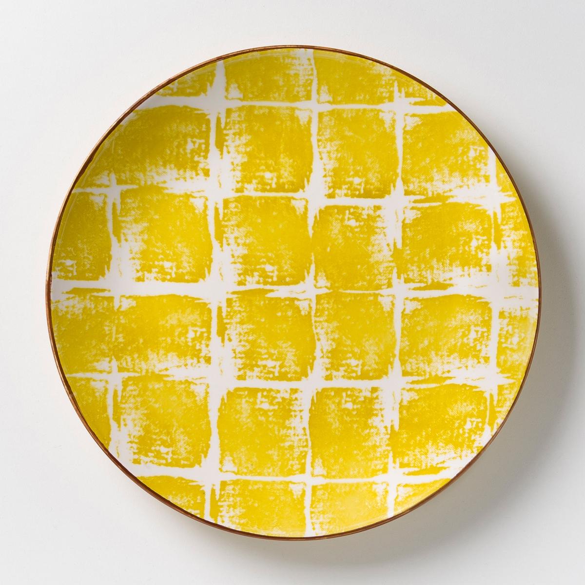 Комплект из 4 мелких тарелок из керамики Malado комплект из 4 тарелок из керамики ø21 5 см pure дизайн п нессенса для serax
