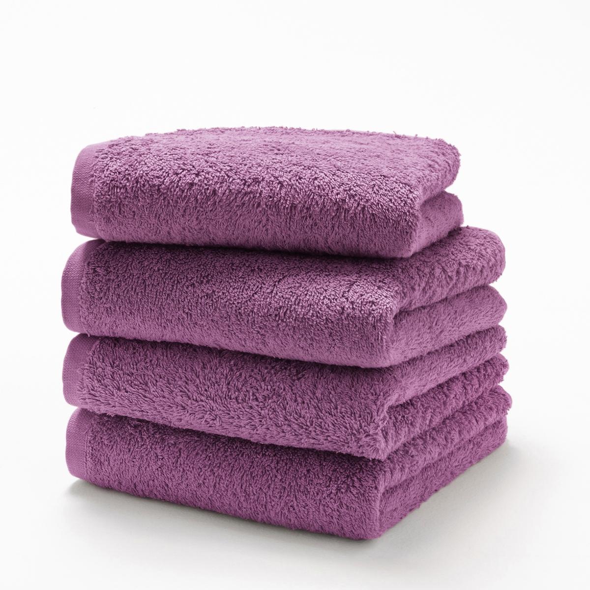 Комплект из 4 гостевых полотенец 500 г/м?Комплект из 4 гостевых полотенец из махровой ткани, 100% хлопок (500 г/м?), невероятно нежной, мягкой и отлично впитывающей влагу.Полотенца разных цветов для ванной... Характеристики 4 однотонных гостевых полотенец :- Махровая ткань, 100% хлопок (500 г/м?).- Отделка краев диагонали.- Машинная стирка при 60 °С.- Машинная сушка.- Замечательная износоустойчивость, сохраняет мягкость и яркость окраски после многочисленных стирок.- Размеры полотенца : 40 x 40 см.- В комплекте 4 полотенца. Знак Oeko-Tex® гарантирует, что товары протестированы и сертифицированы, не содержат вредных веществ, которые могли бы нанести вред здоровью.<br><br>Цвет: белый,голубой бирюзовый,гренадин,зеленый  атолл,зеленый анис,красный карминный,пепельно-серый,светло-розовый,серо-бежевый,серо-синий,сине-зеленый,синий морской волны,смородиновый,темно-серый,фиолетовый,черный<br>Размер: 40 x 40  см.40 x 40  см