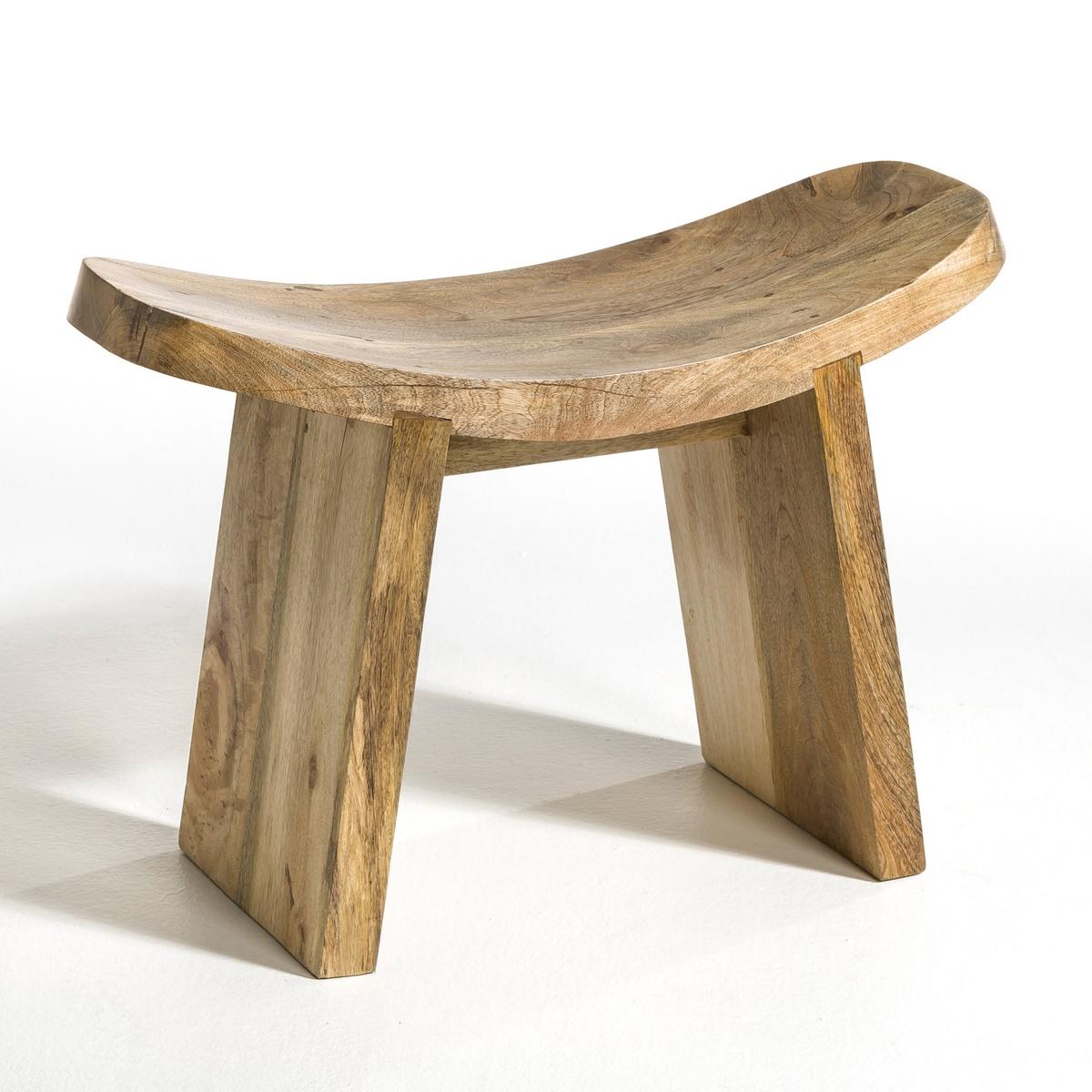 Табурет для йоги, Fuyuka, большая модельХарактеристики: - Выполнен из древесины мангового дерева.Размеры: - Ш 66 x В 48 x Г 29 см.<br><br>Цвет: серо-бежевый,черный<br>Размер: единый размер