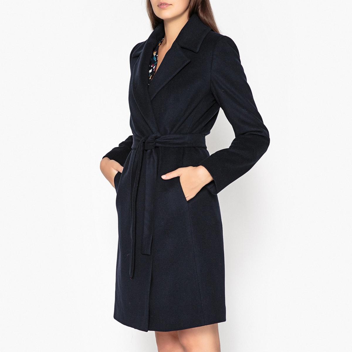Пальто прямое из шерсти и кашемира SAMARA