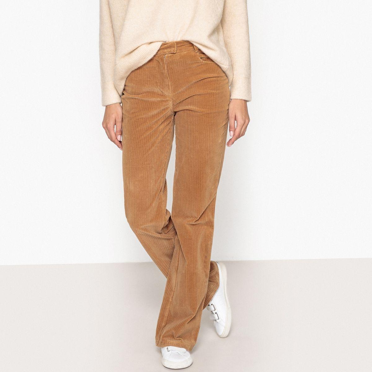 Pantalon large velours côtelé COLIBRIO