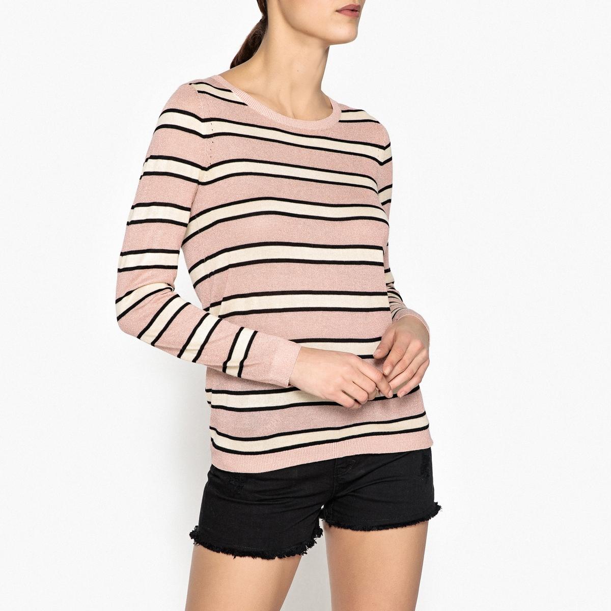 Пуловер в полоску из тонкого трикотажа пуловер scotch