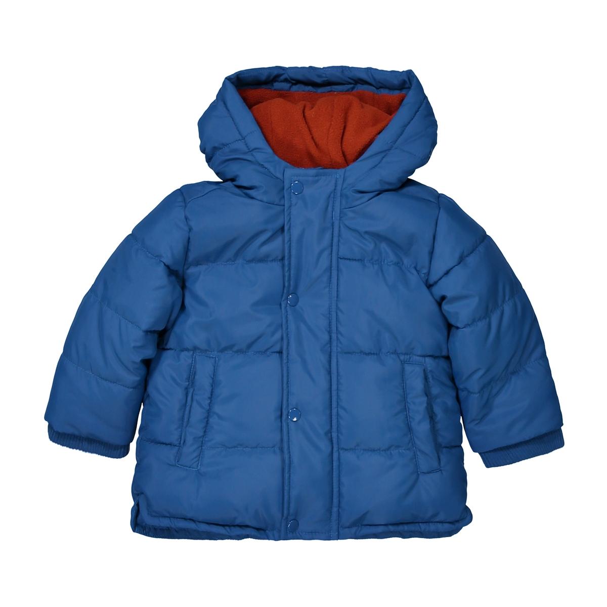 Куртка La Redoute С капюшоном мес - года 6 мес. - 67 см синий шорты la redoute с рисунком мес года 6 мес 67 см синий