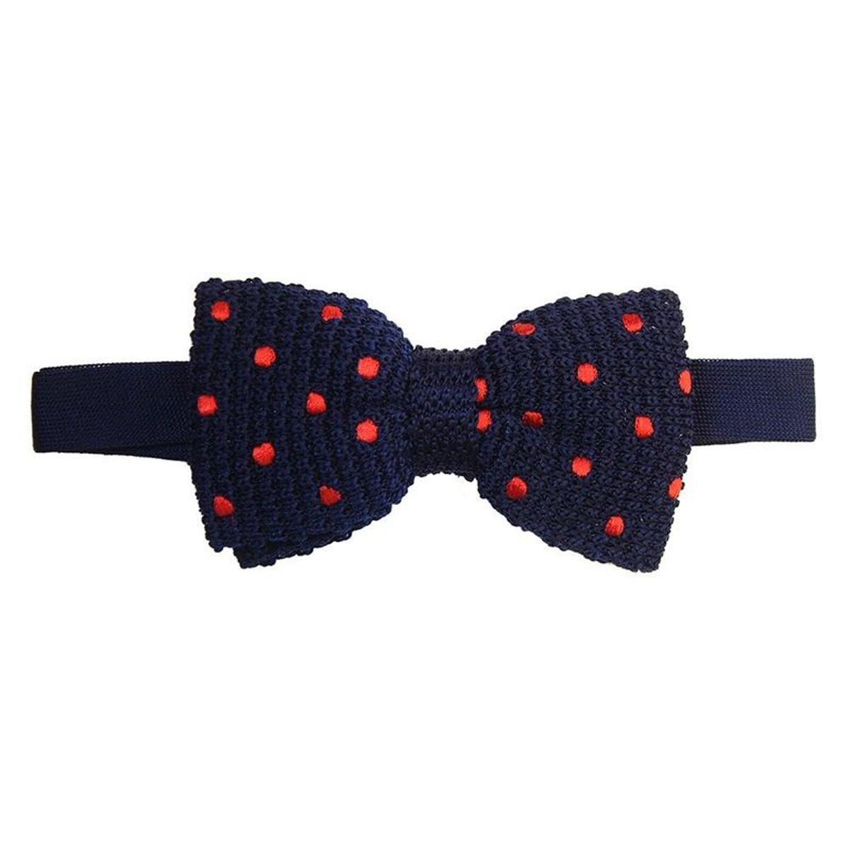 Noeud papillon tricot soie dandy style