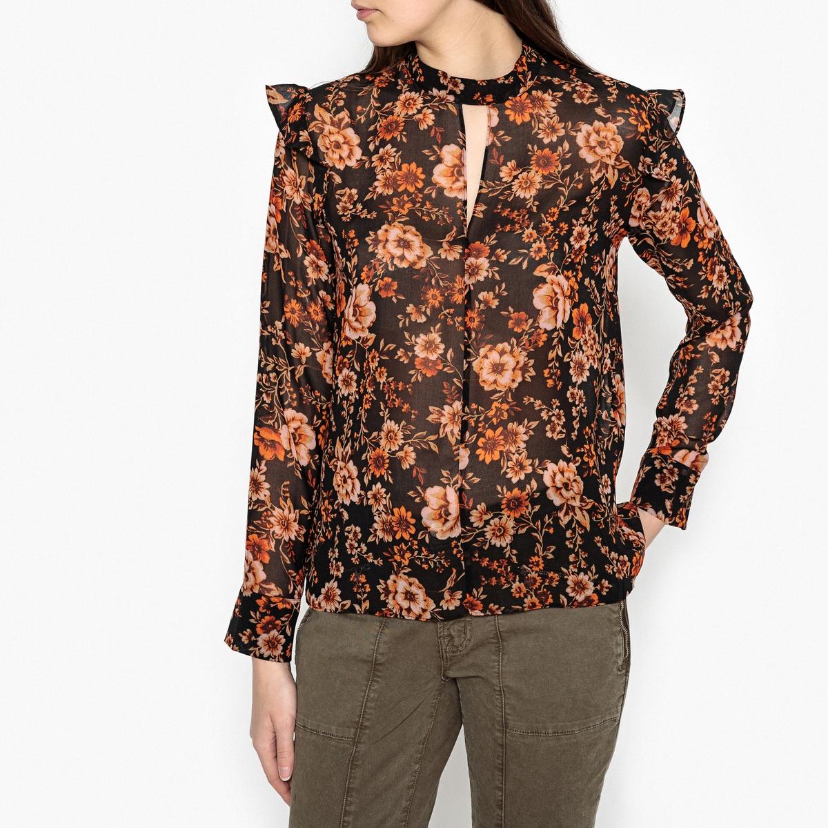 Блузка с принтом CAVAN SAMSOE AND SAMSOE