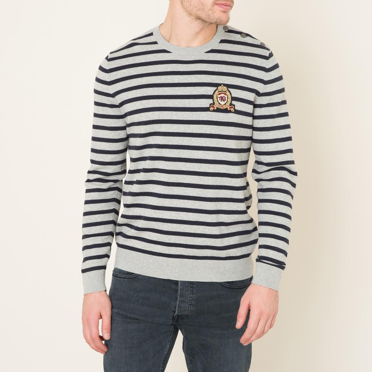 купить Пуловер в полоску в морском стиле дешево