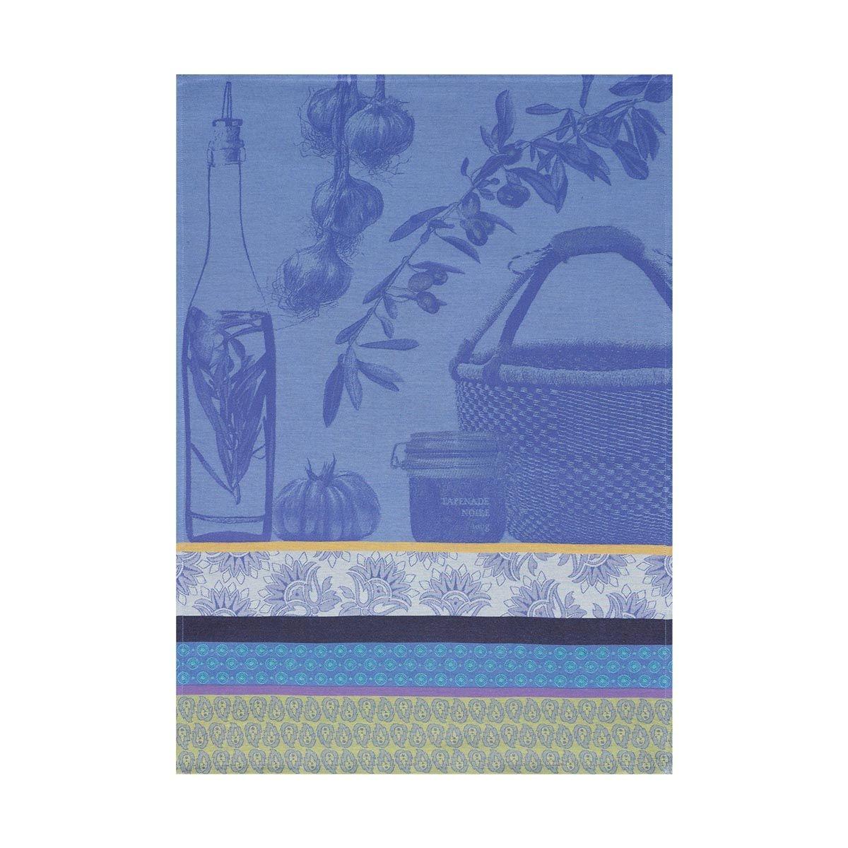 Torchon Saveurs de provence Bleu lavande 60x80 100% coton