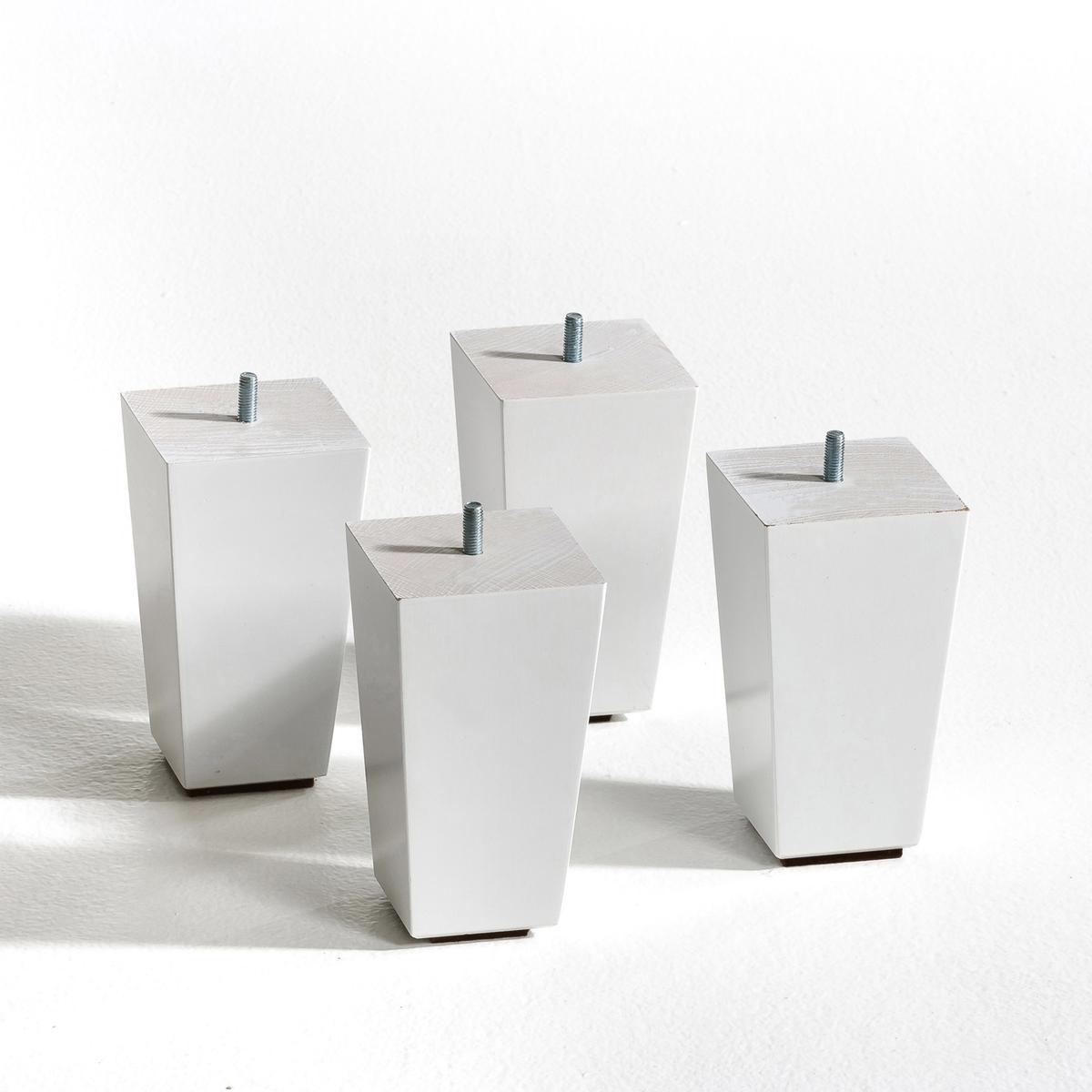 4 ножки для кровати TrapecioХарактеристики: - Выполнены из бука, покрытого белым лаком. Размеры: - Общ.: ширина 8,2 x глубина 8,2 см.- Основание: ширина 6 x глубина 6 см. - 2 высоты на выбор: 15 или 20 см.<br><br>Цвет: белый,черный лак<br>Размер: 20cm
