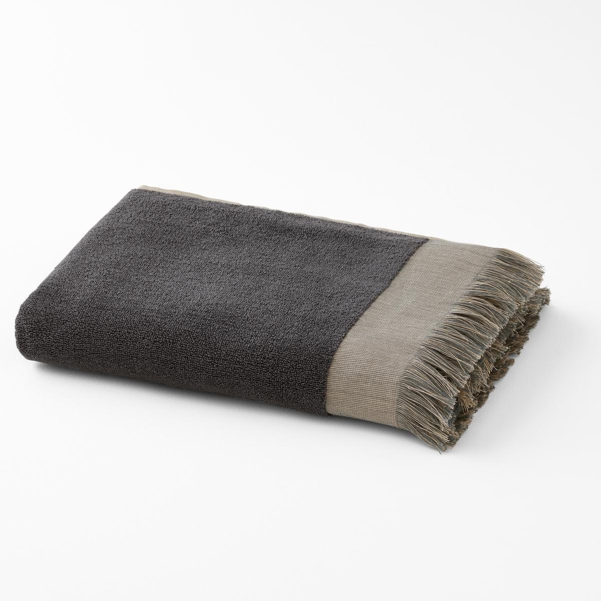 Полотенце La Redoute Махровое из хлопка с бахромой HAMMAM 50 x 100 см серый полотенце proffi home классик цвет шоколадный 50 x 100 см