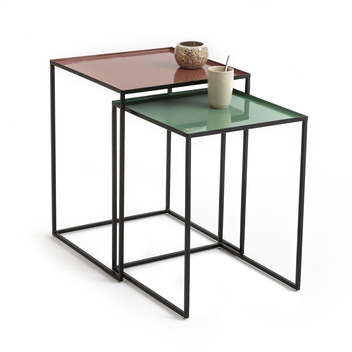 Confezione da 2 tavolini quadrati TIVARA