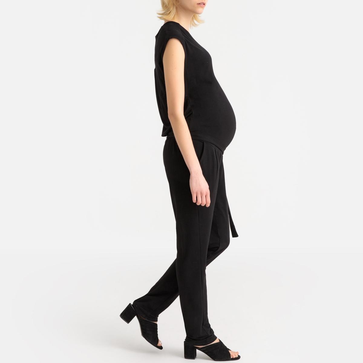 Комбинезон La Redoute С запахом без рукавов для периода беременности S черный