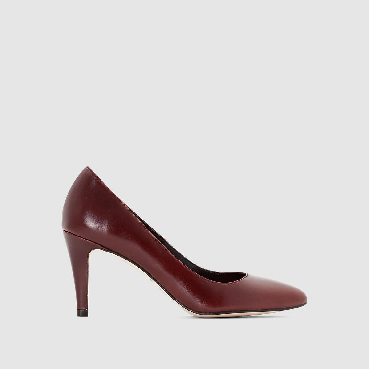 Туфли на каблуке 11395Подкладка : Кожа   Подошва: эластомер   Высота каблука: 8 смФорма каблука : Тонкий каблук   Носок : Острый мысок   Застежка: без застежки<br><br>Цвет: бордовый,серо-коричневый<br>Размер: 40.39.36
