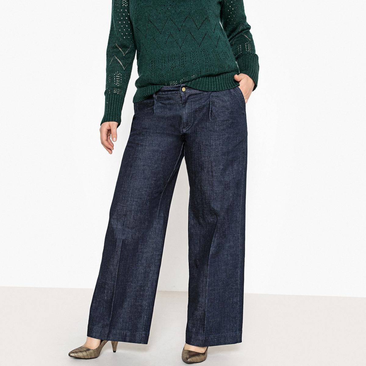 Джинсы La Redoute Широкие 42 (FR) - 48 (RUS) синий брюки la redoute веретенообразные из струящейся ткани 48 fr 54 rus синий