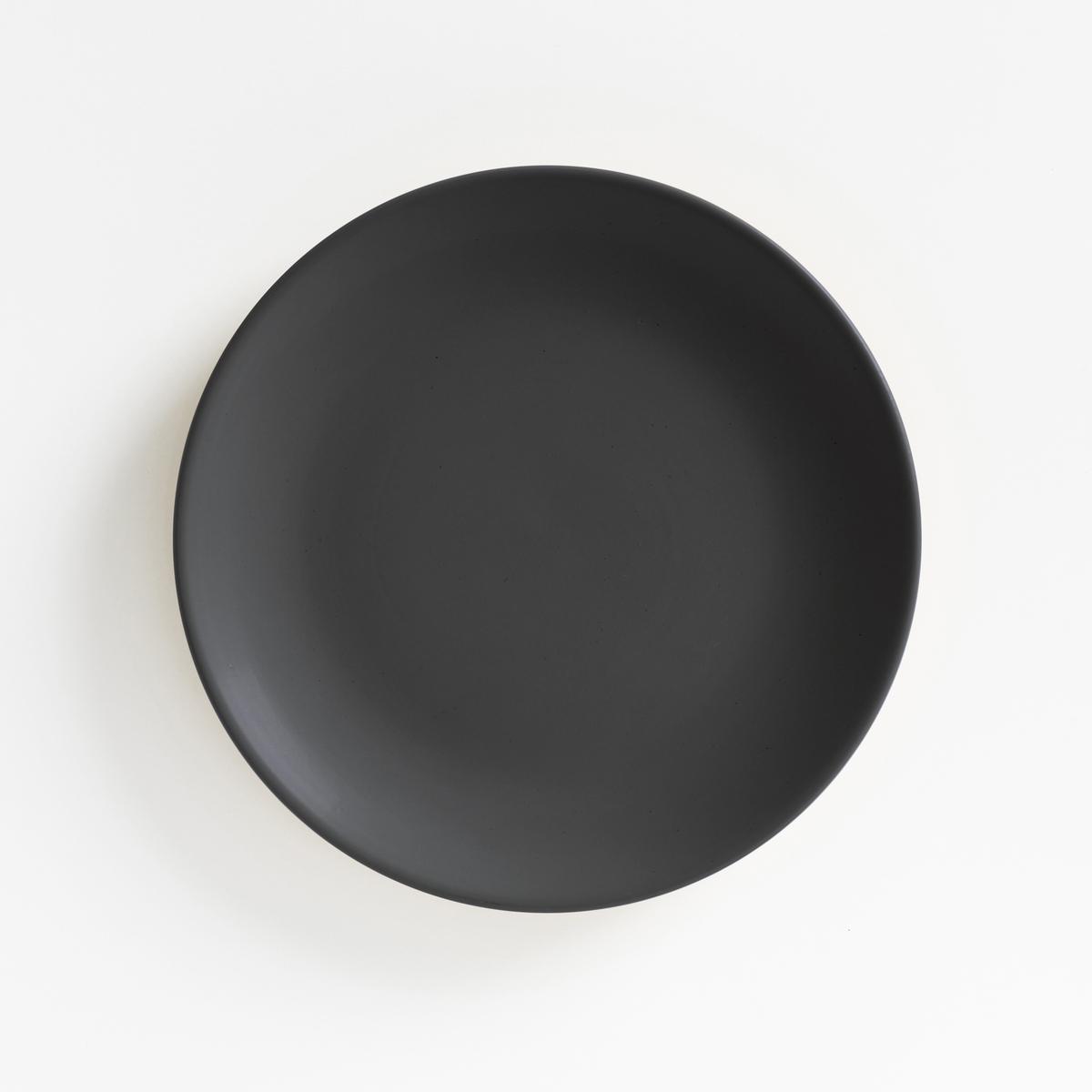 Комплект из десертных тарелок La Redoute Из матового фаянса MELYA единый размер серый комплект из 4 десертных тарелок sam baron