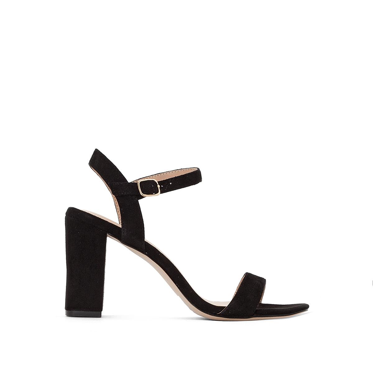 Босоножки из велюровой кожи на каблуке Gisele цены онлайн
