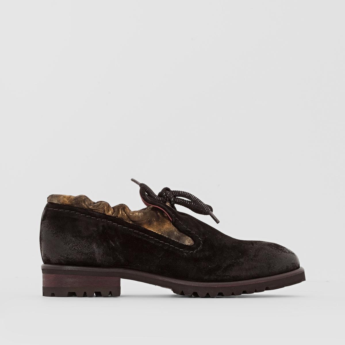 Ботинки-дерби кожаные SukiПодкладка: Кожа    Стелька: Кожа    Подошва: каучук.   Застежка: шнуровка.<br><br>Цвет: черный