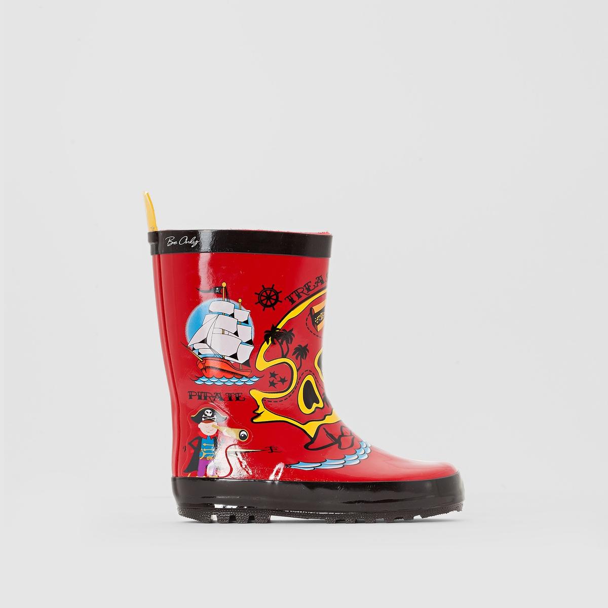 СапогиВерх/Голенище: каучук               Подкладка: текстиль       Стелька: текстиль       Подошва: каучук       Высота каблука: 16,5 см       Форма каблука: широкий       Мысок: закругленный       Застежка: без застежки<br><br>Цвет: красный