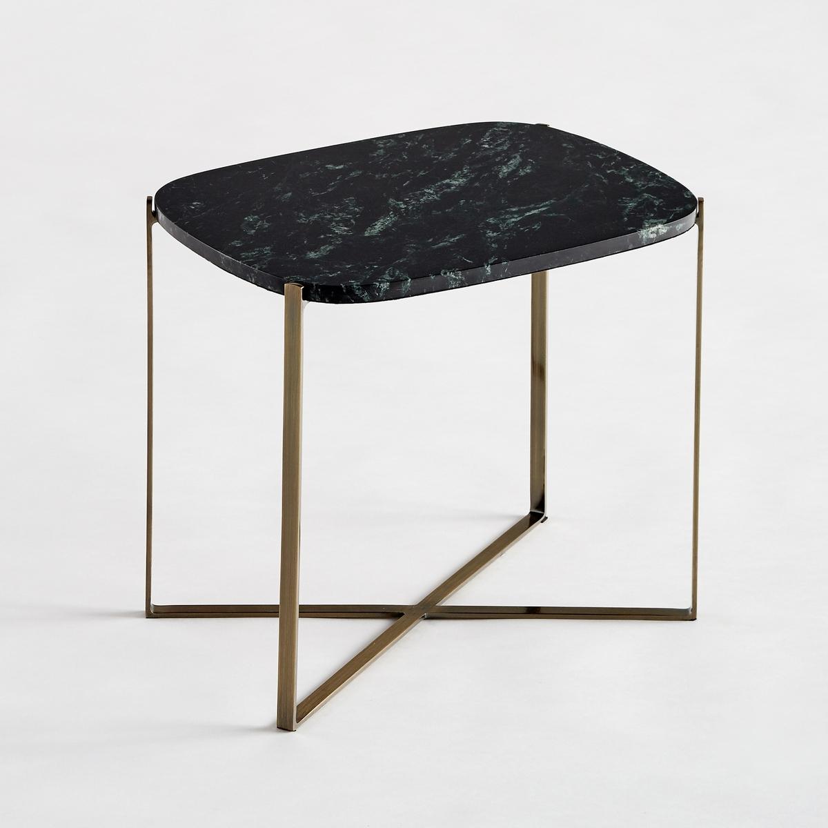 Прямоугольный диванный столик  . из зеленого марамора/металла ArambolХарактеристики : - Столешница из зеленого мрамора, толщ. 1,5 см  . Каждое изделие уникально  . Прожилки могут  быть более или менее заметны  .- Каркас из металла с отделкой из латуни с эффектом старения- Органическая форма- Столик готов к сборке в соответствии с прилагающейся инструкциейРазмеры : - 41 x 38 x 31,7 см Размеры и вес упаковки : - 2,5 x 10 x 46,4 см, 5,82 кг и 42 x 42 x 27,5 см, 2,38 кгДоставка :Доставка по предварительной договоренности, возможен подъём на этаж !Внимание ! Убедитесь в том, что товар возможно доставить на дом, учитывая его габариты (проходит в двери, по лестницам, в лифты).<br><br>Цвет: зеленый<br>Размер: единый размер