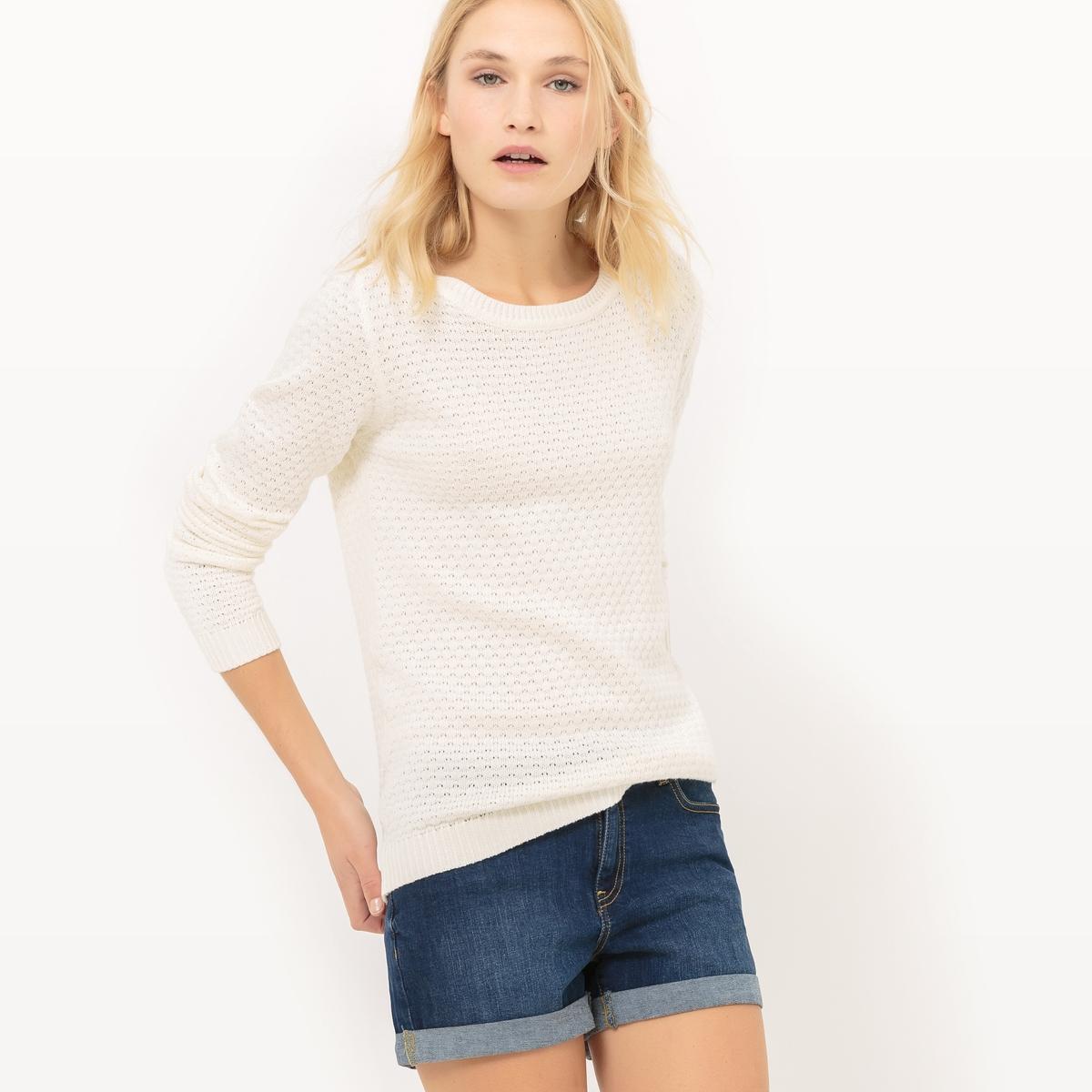 Пуловер из оригинального трикотажа