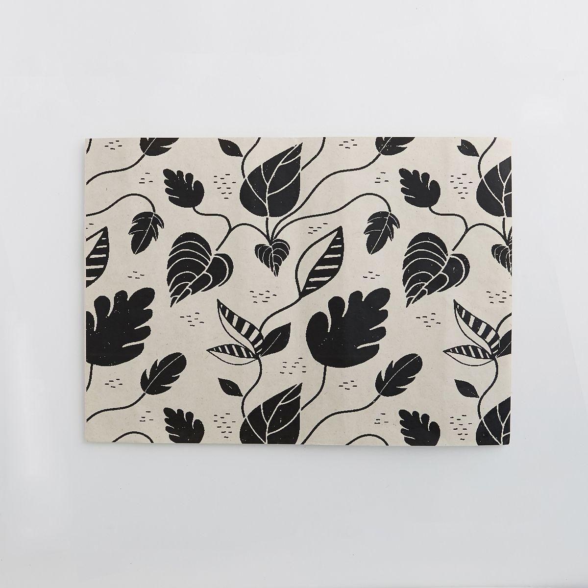set de table jetable foliole lot de 4. Black Bedroom Furniture Sets. Home Design Ideas